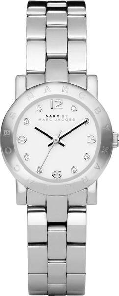 Marc By Marc Jacobs Women'S Mini Amy Stainless Steel Bracelet 26Mm Mbm3055 in Silver (steel)