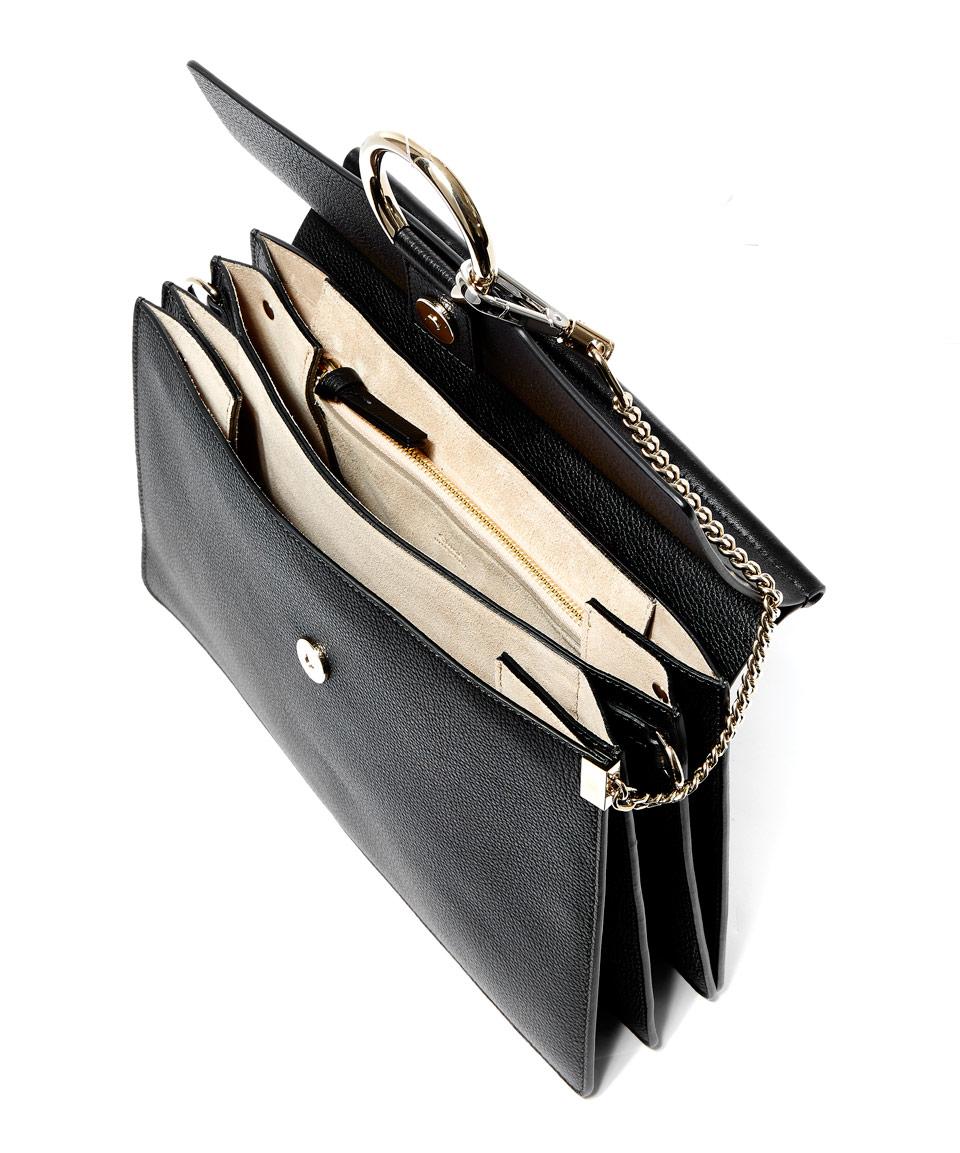 chloe black python medium faye bag