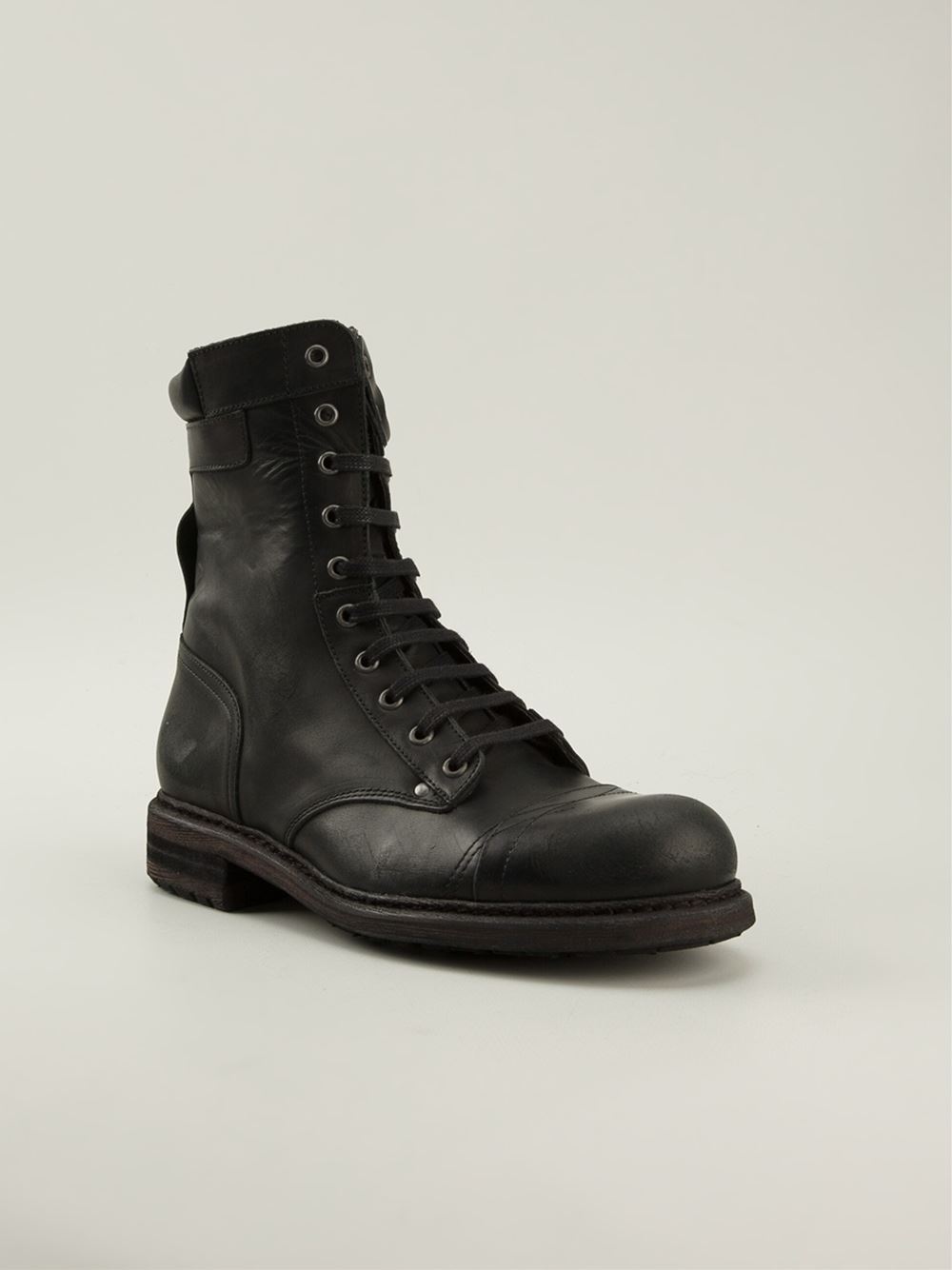lyst diesel cassidy boots in black for men