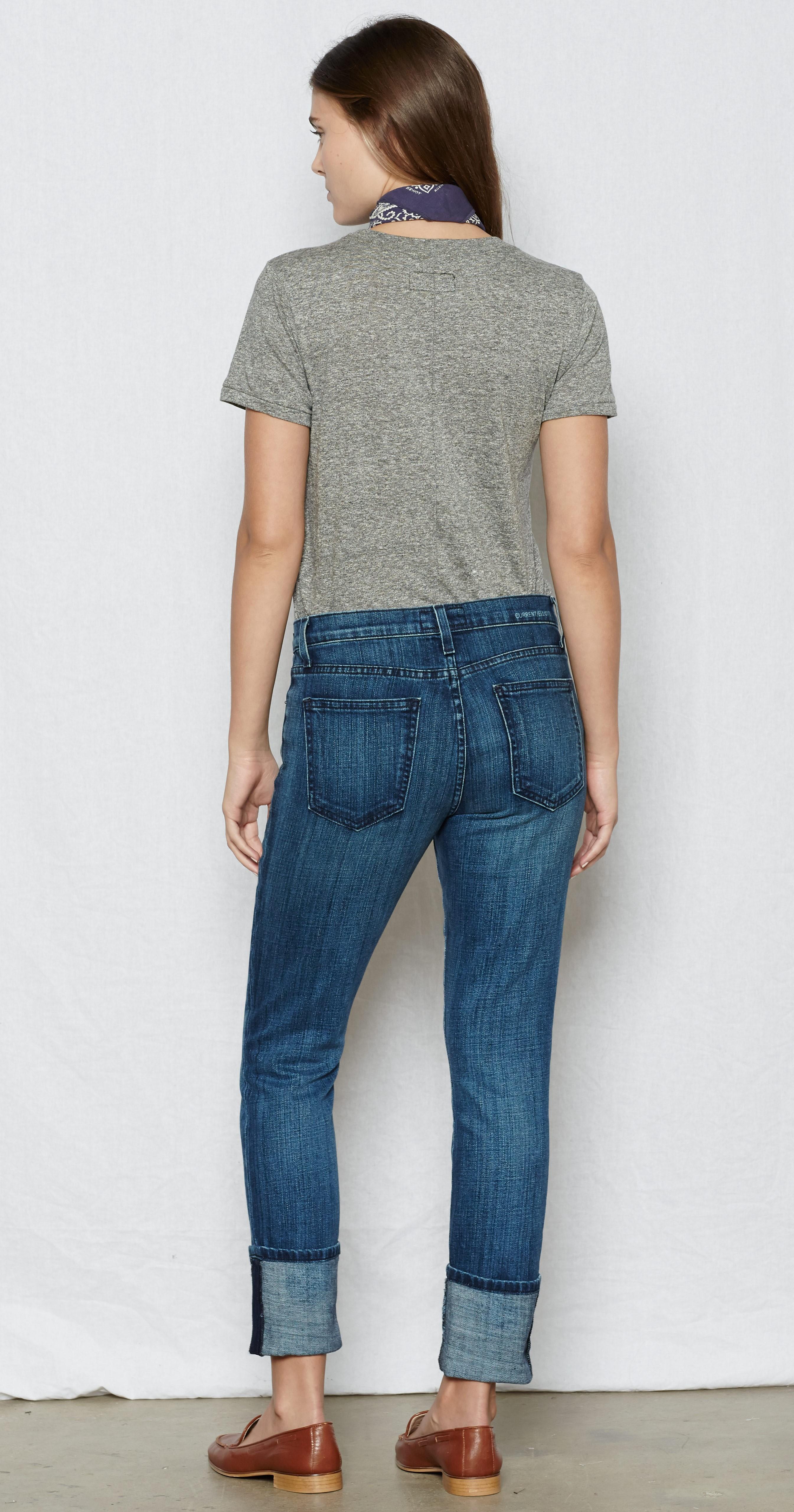 cuffed skinny jeans - Blue Current Elliott xNl19dg4