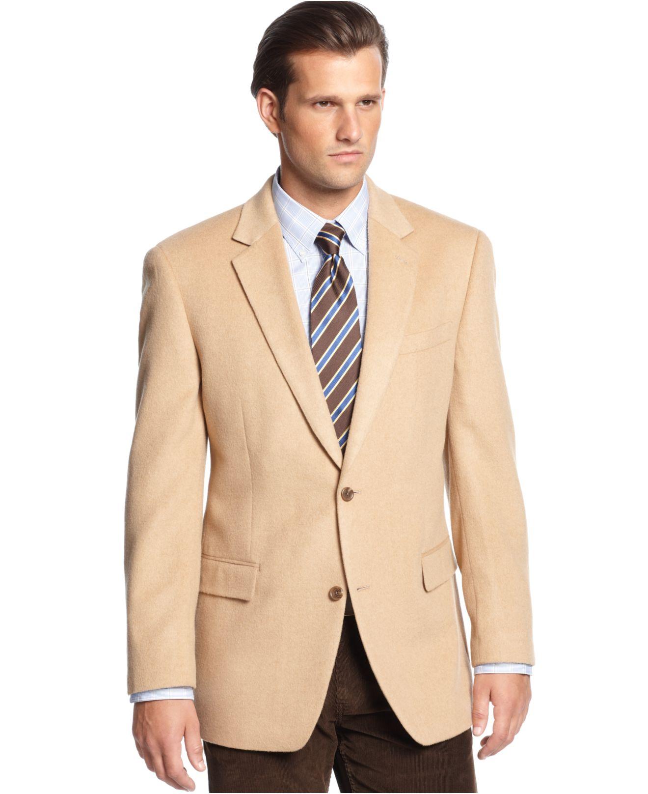 Michael kors Michael Solid Camel Hair Sport Coat in Natural for ...
