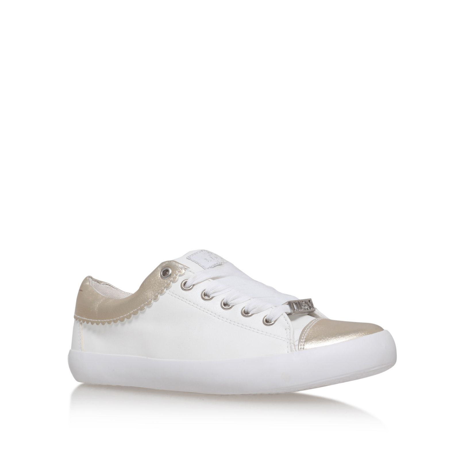 Lipsy Alissa Flat Lace Up Sneakers In White Lyst