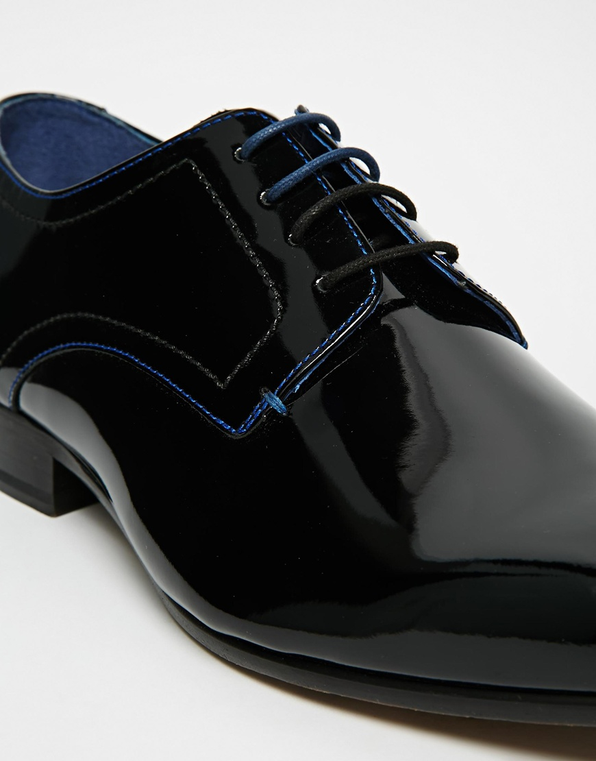 5f239b78e64e Lyst - Ted Baker Billay Leather Derby Shoes in Black for Men