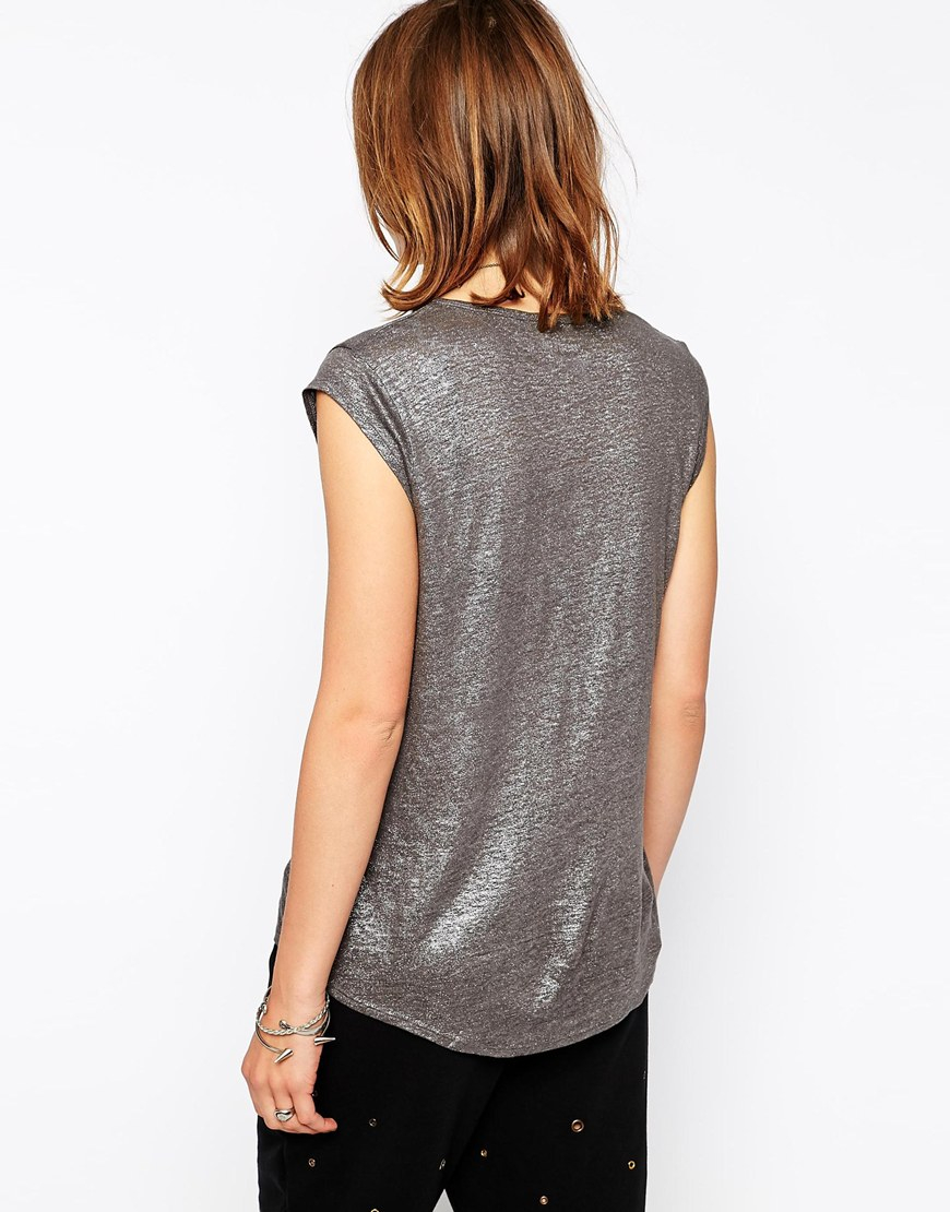 Outlet Many Kinds Of metallic detail top - Grey Zadig & Voltaire Free Shipping Purchase NfdjdX