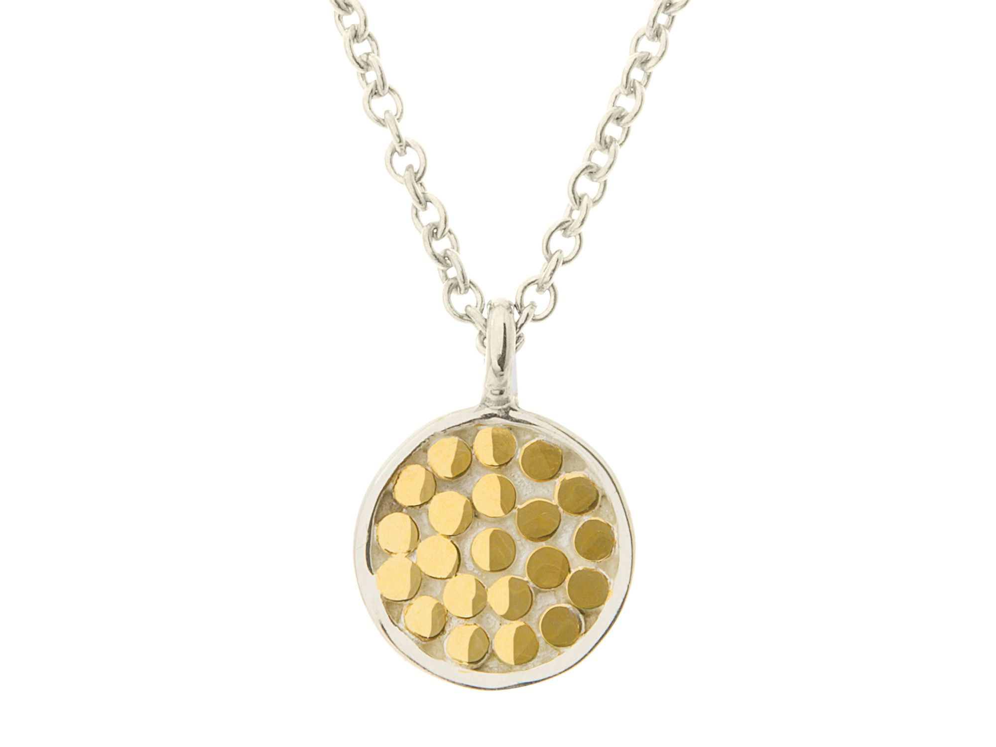 Anna beck textured disk pendant necklace 16 in metallic lyst gallery aloadofball Images