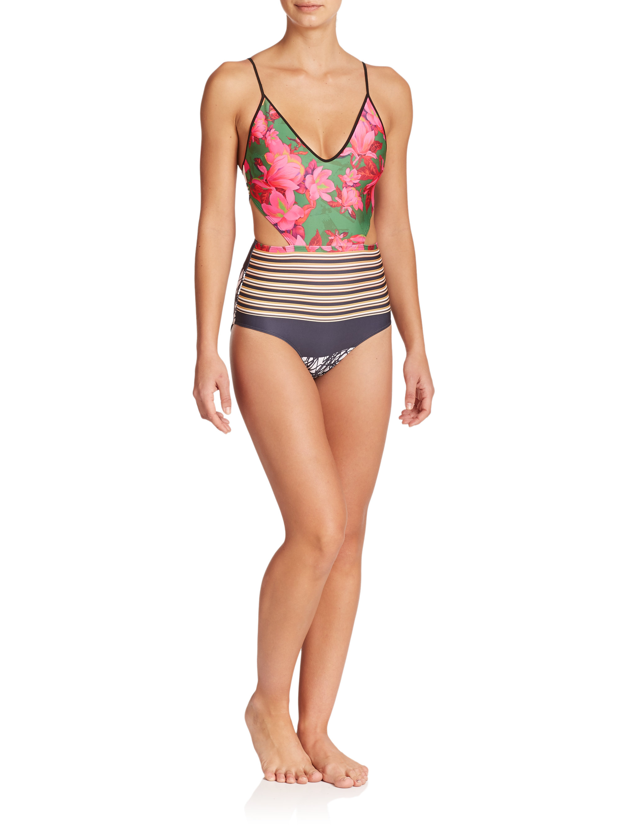 4c46bef4bb Lyst - Clover Canyon One-piece Scribble Swimsuit