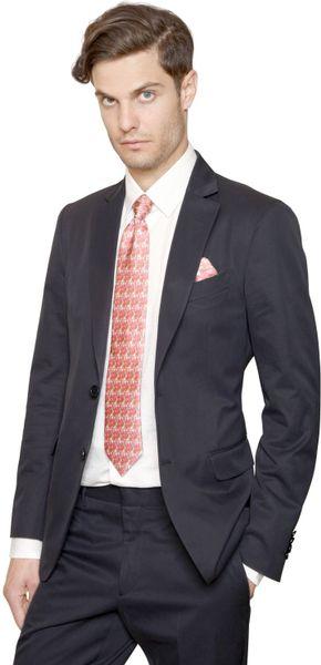 Ferragamo Cotton Gabardine Suit in Blue for Men (NAVY) - Lyst