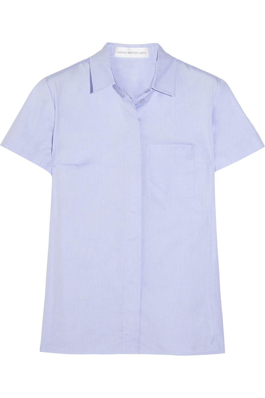 Lyst Victoria Beckham Cotton Shirt In Blue