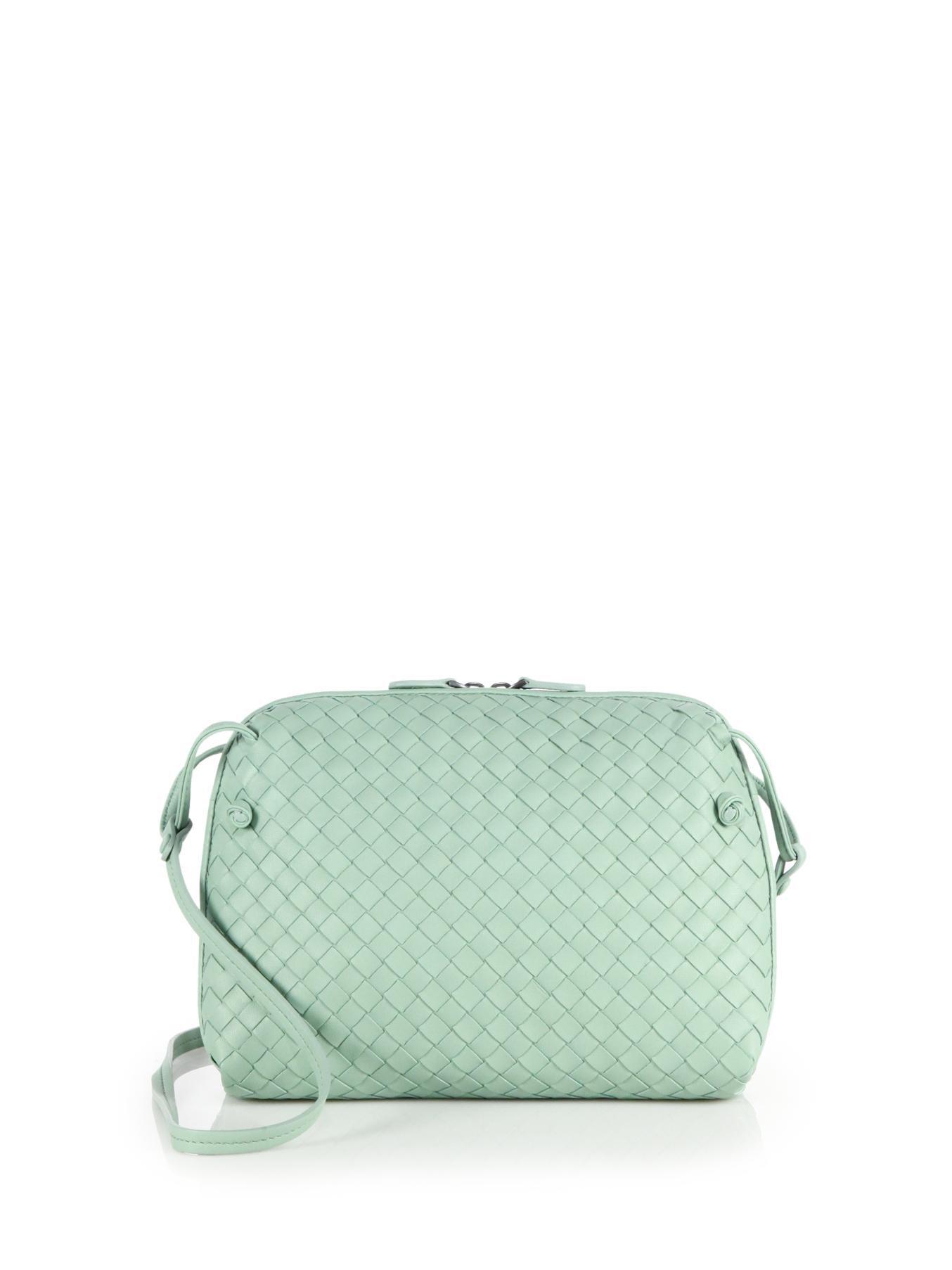 70cff00e2c5c Lyst - Bottega Veneta Small Pillow Intrecciato Leather Crossbody Bag ...