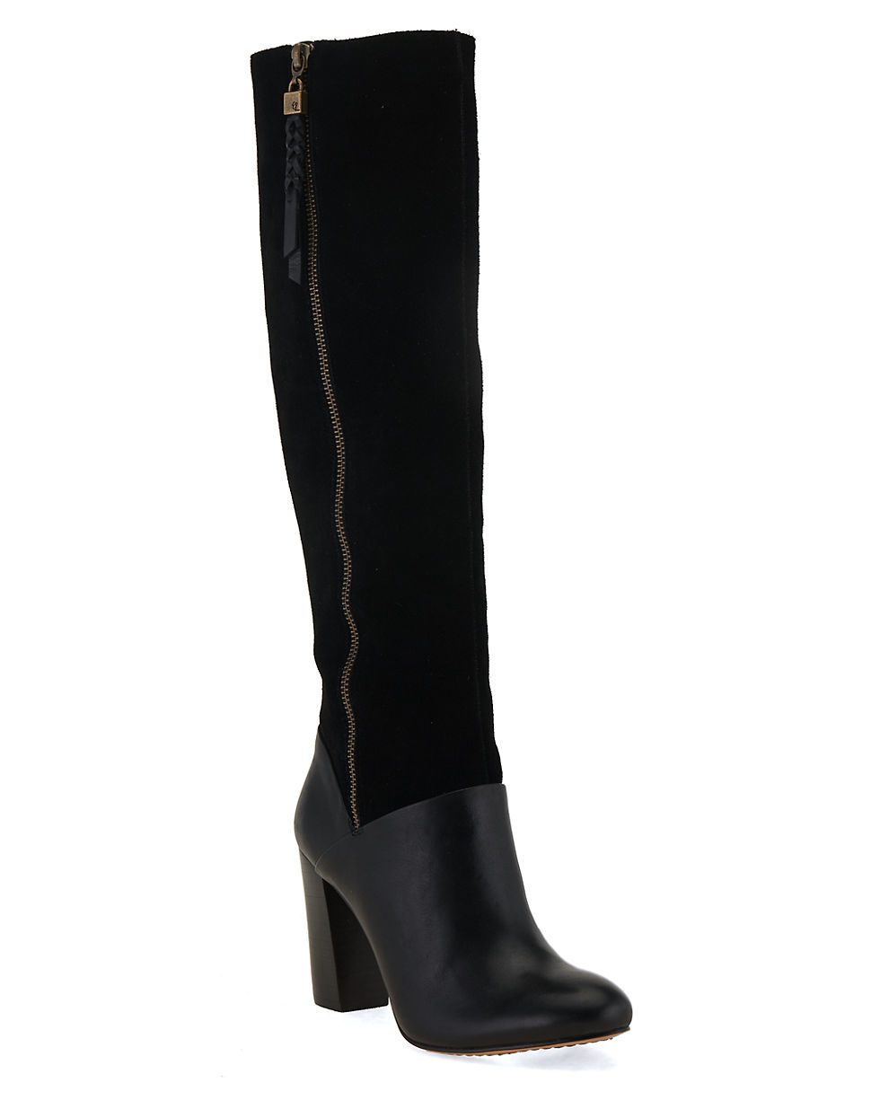 elliott lucca dorea leather boots in black lyst