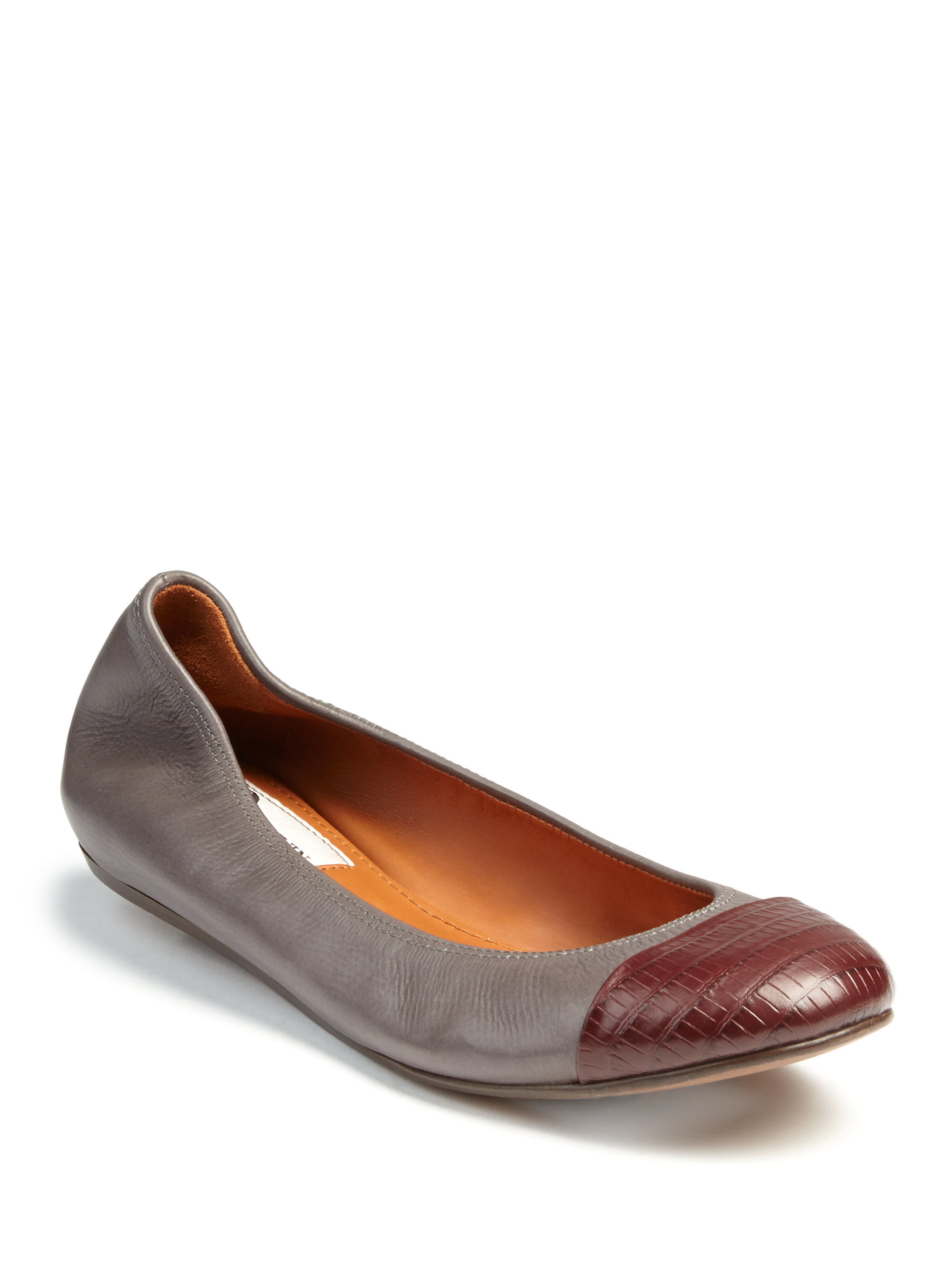clearance tumblr Lanvin Embossed Ballet Flats cheap sale sale 8HJHiIG