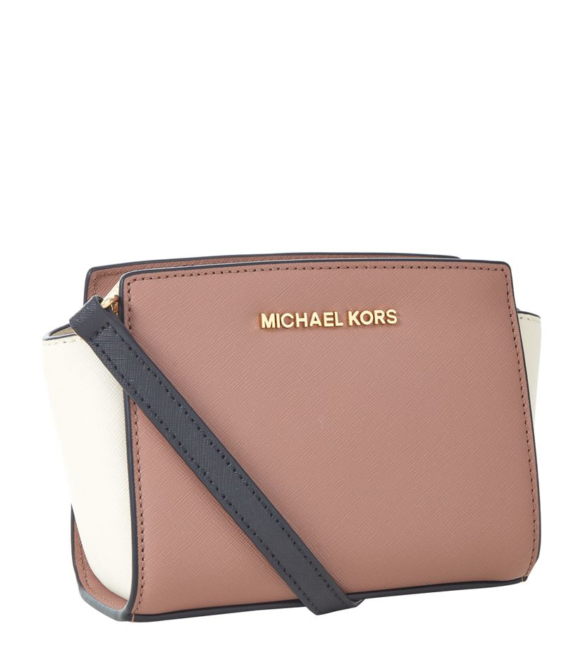 d61a2a44faca MICHAEL Michael Kors Selma Mini Messenger Bag in Brown - Lyst