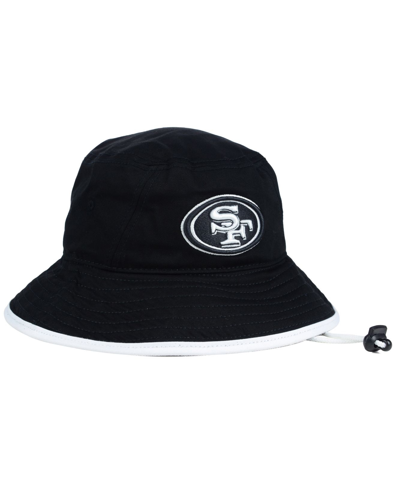 c3155be1d4b ... official store lyst ktz san francisco 49ers nfl black white bucket hat  in black 13e43 62a1a