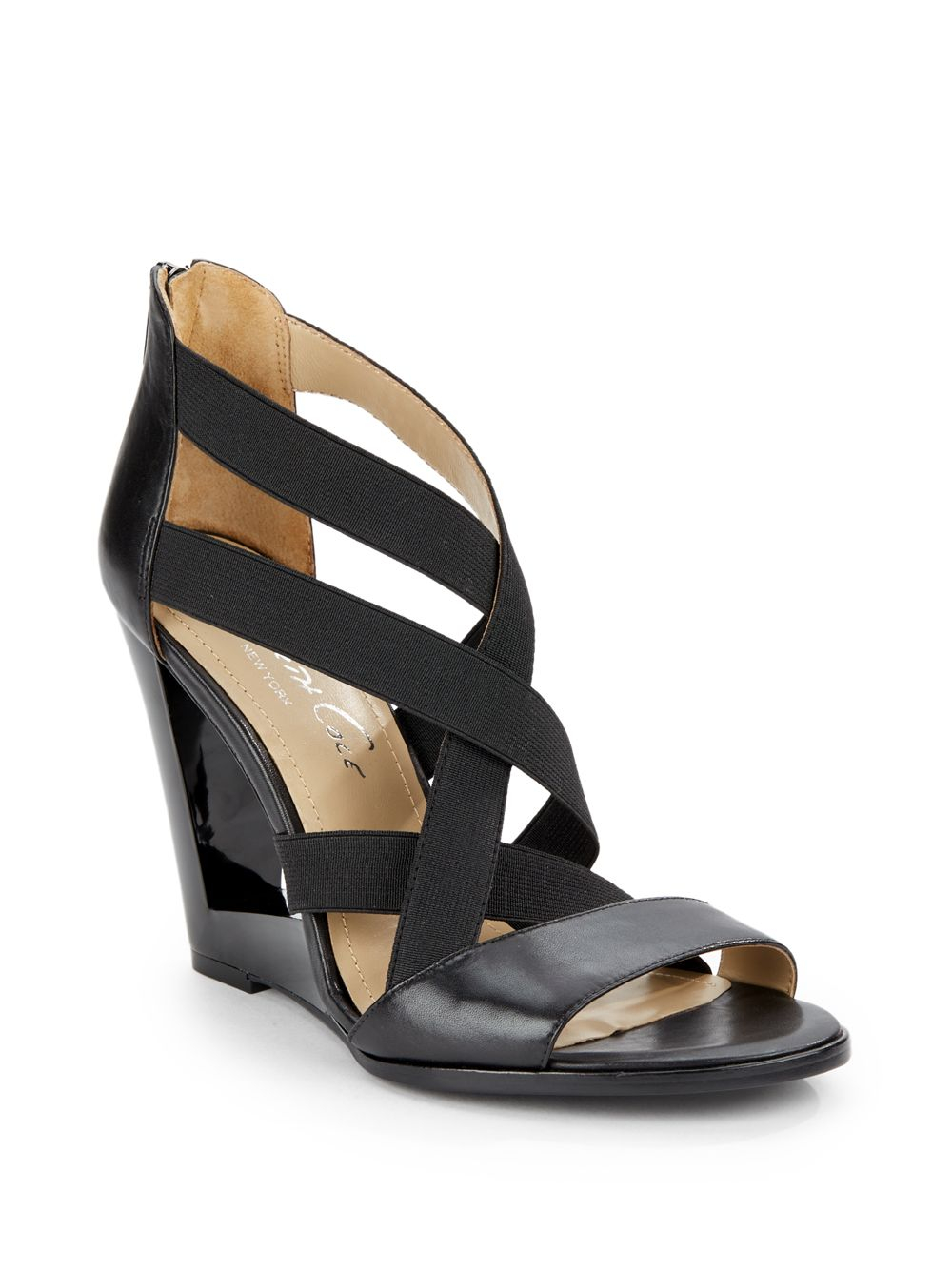 Kenneth Cole Our Vision Strappy Cutout Wedge Sandals In
