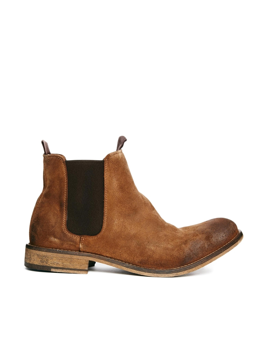 selected homme melvin suede chelsea boots in brown for men lyst. Black Bedroom Furniture Sets. Home Design Ideas
