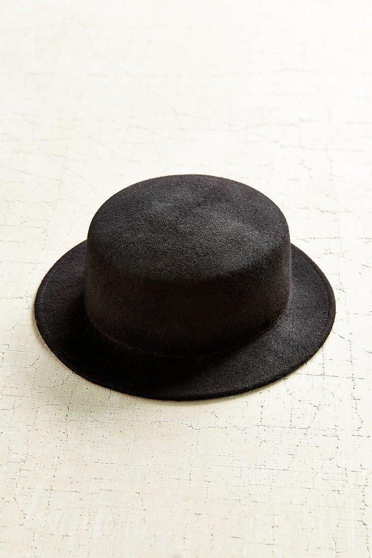 f68866e4c119c Urban Outfitters Marnie Short Brim Felt Bowler Hat in Black - Lyst