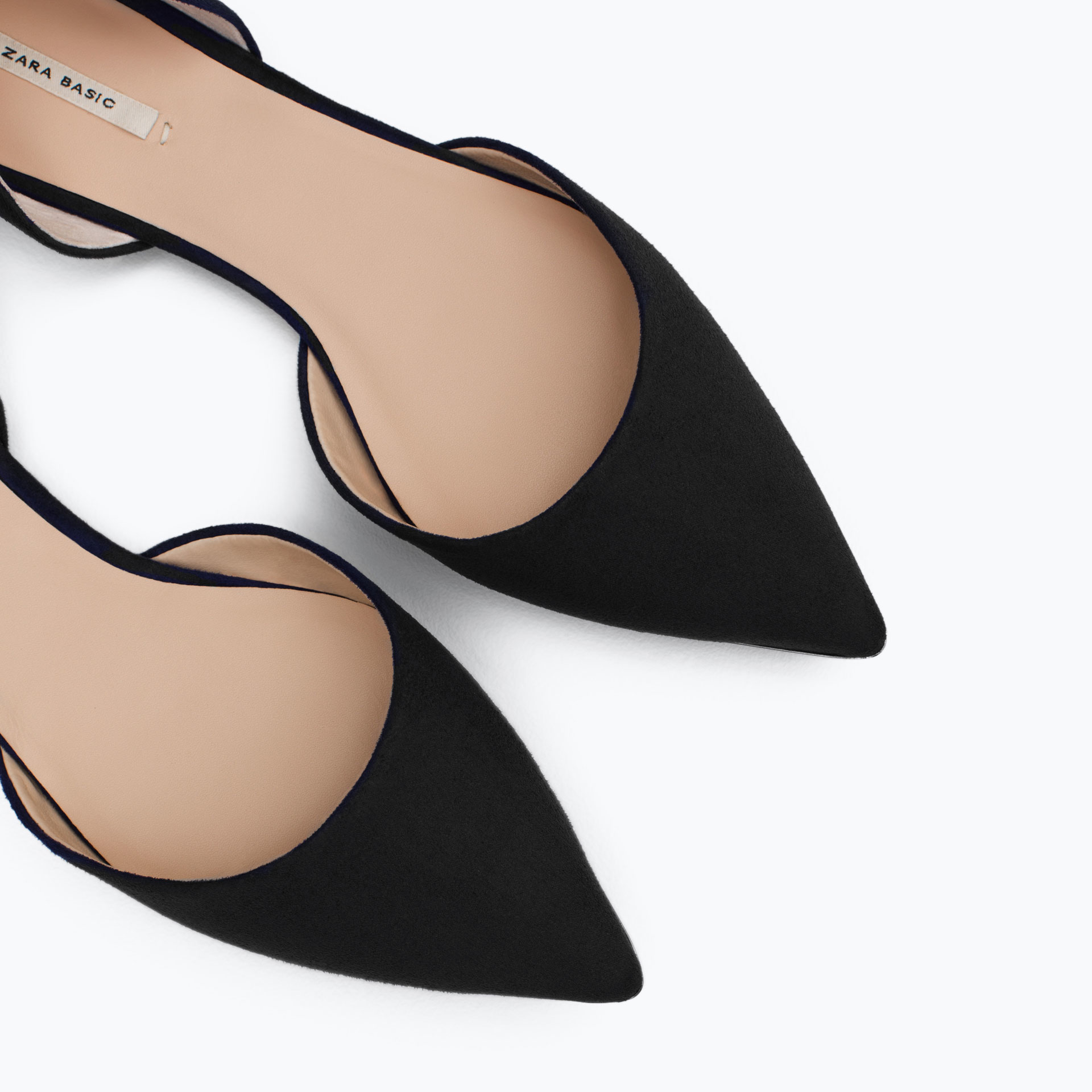 Zara D Orsay Shoes With Ankle Strap Detail   Black