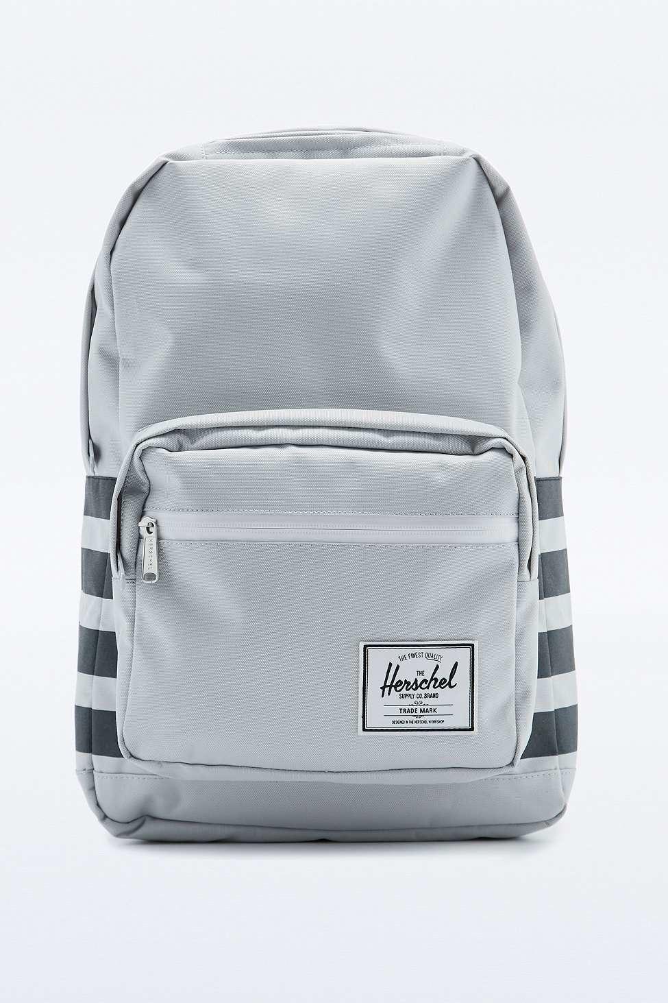 80a0f314a918 Herschel Supply Co. Pop Quiz Offset White Stripe Backpack in Gray ...