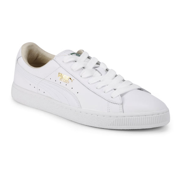 white puma basket trainers for pc