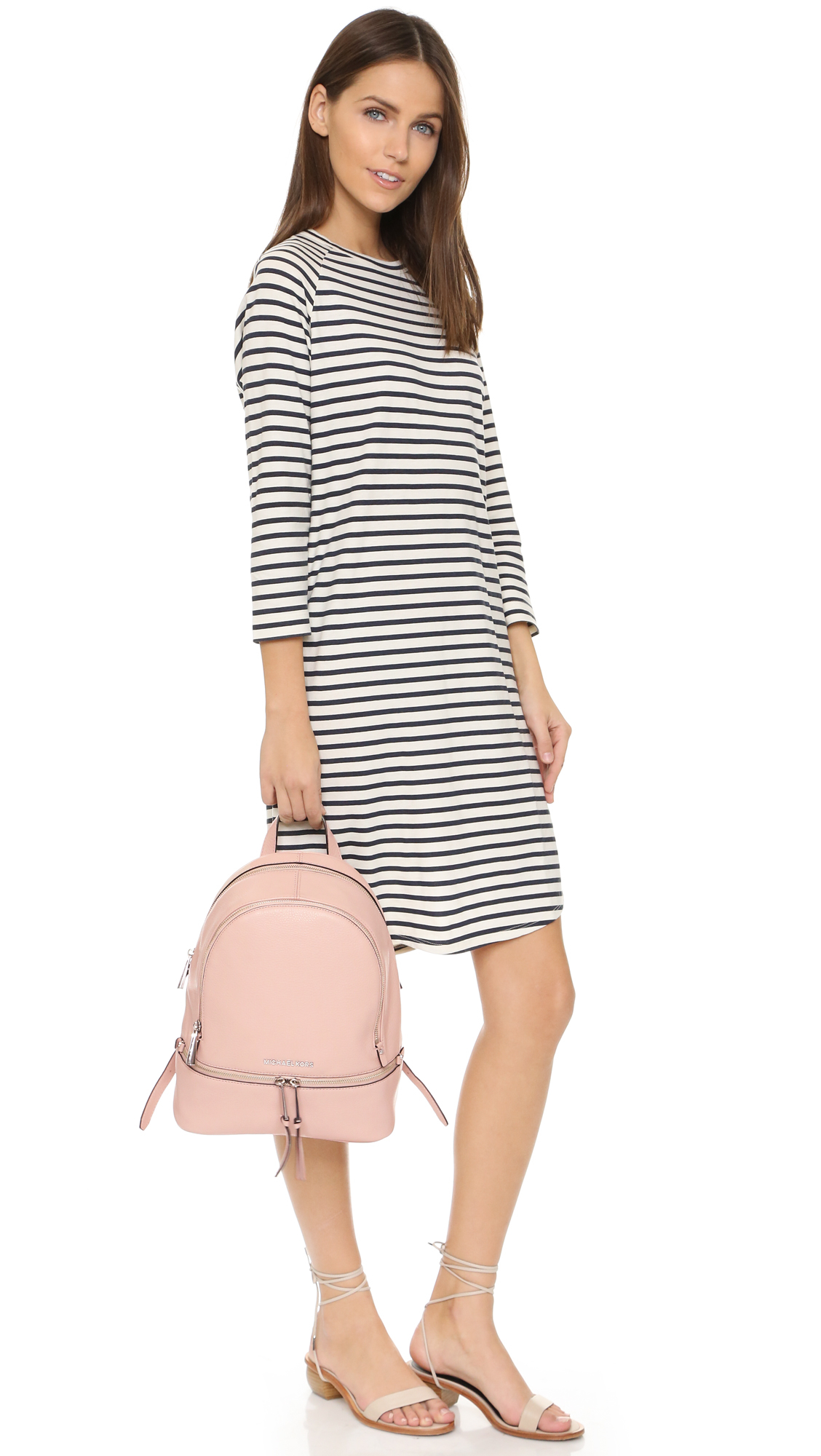 7a6cffbe7642 MICHAEL Michael Kors Rhea Small Backpack - Ballet in Pink - Lyst
