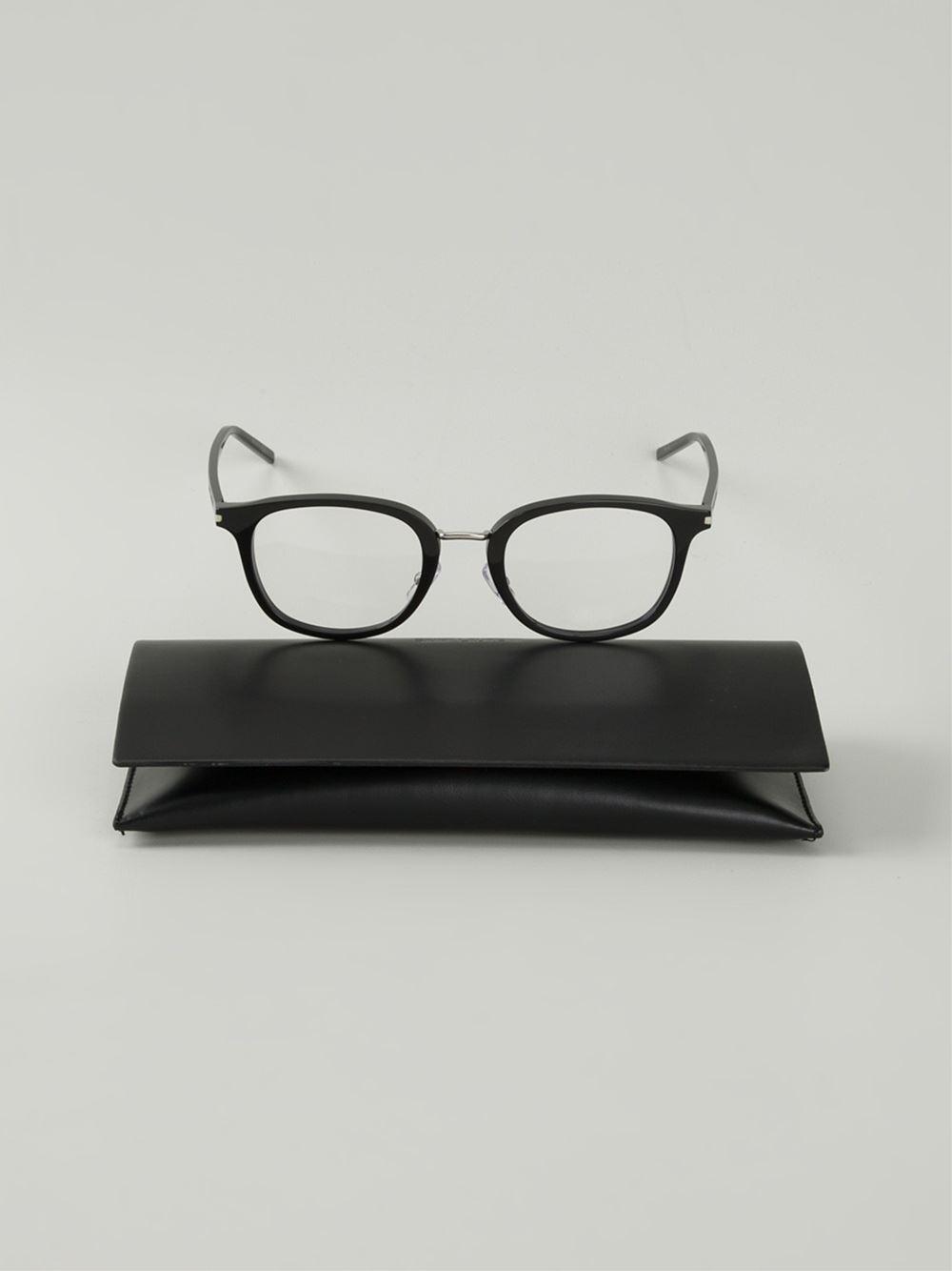 3a9f63c959 Saint Laurent Square Optical Frames in Black for Men - Lyst