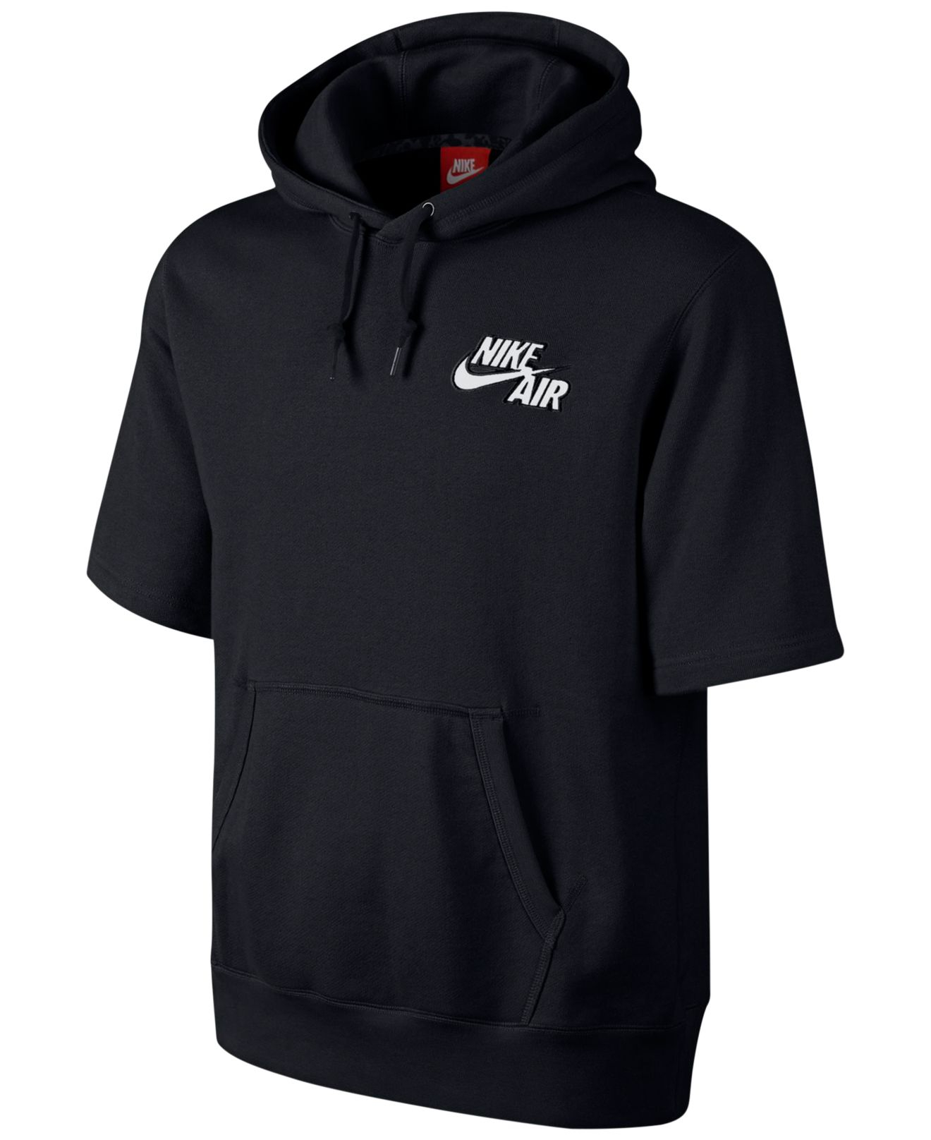 Nike Air Pivot Short-Sleeve Hoodie in Black for Men | Lyst