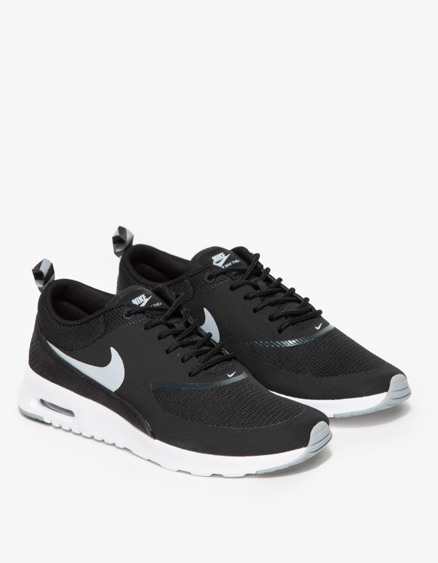 nike air max thea in black lyst. Black Bedroom Furniture Sets. Home Design Ideas