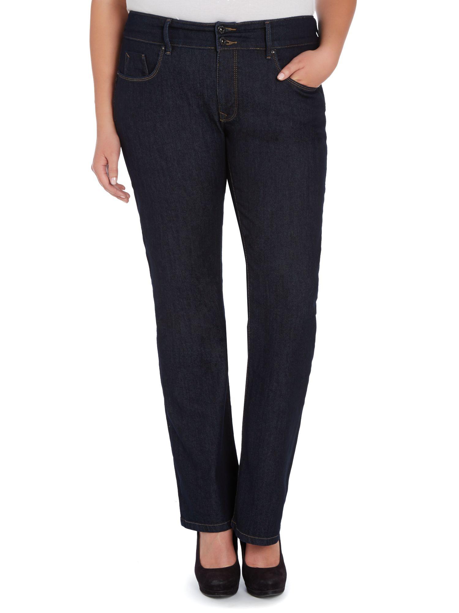 salsa plus size secret push in bootcut leg jeans in blue denim mid wash lyst. Black Bedroom Furniture Sets. Home Design Ideas
