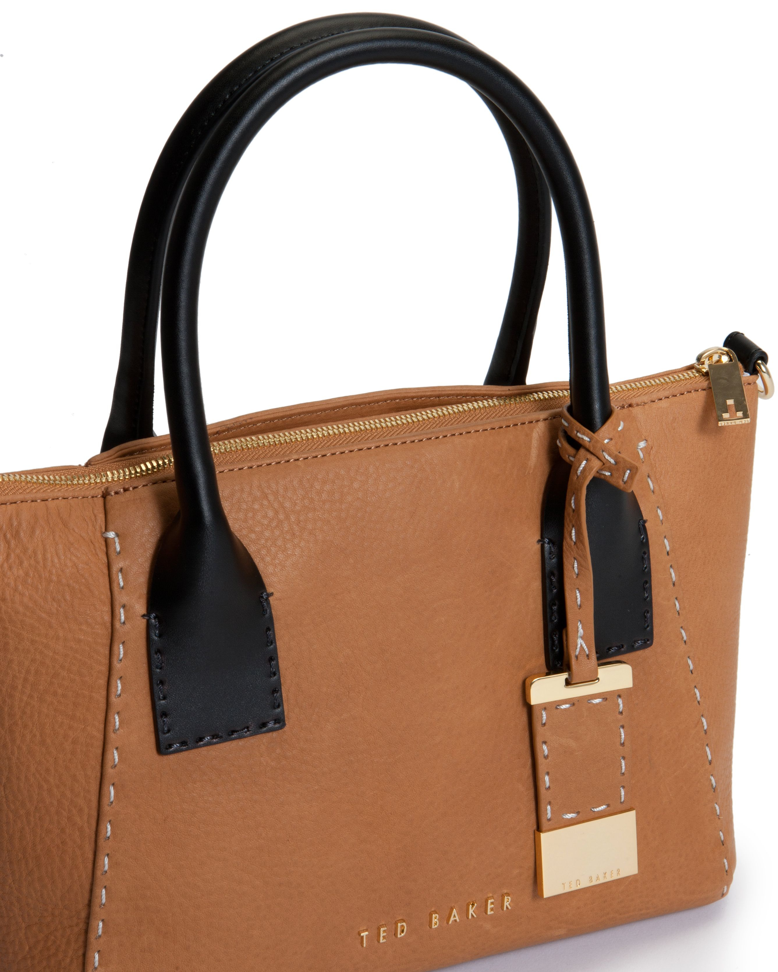 Ted baker Lauren Small Leather Tote Bag in Brown | Lyst