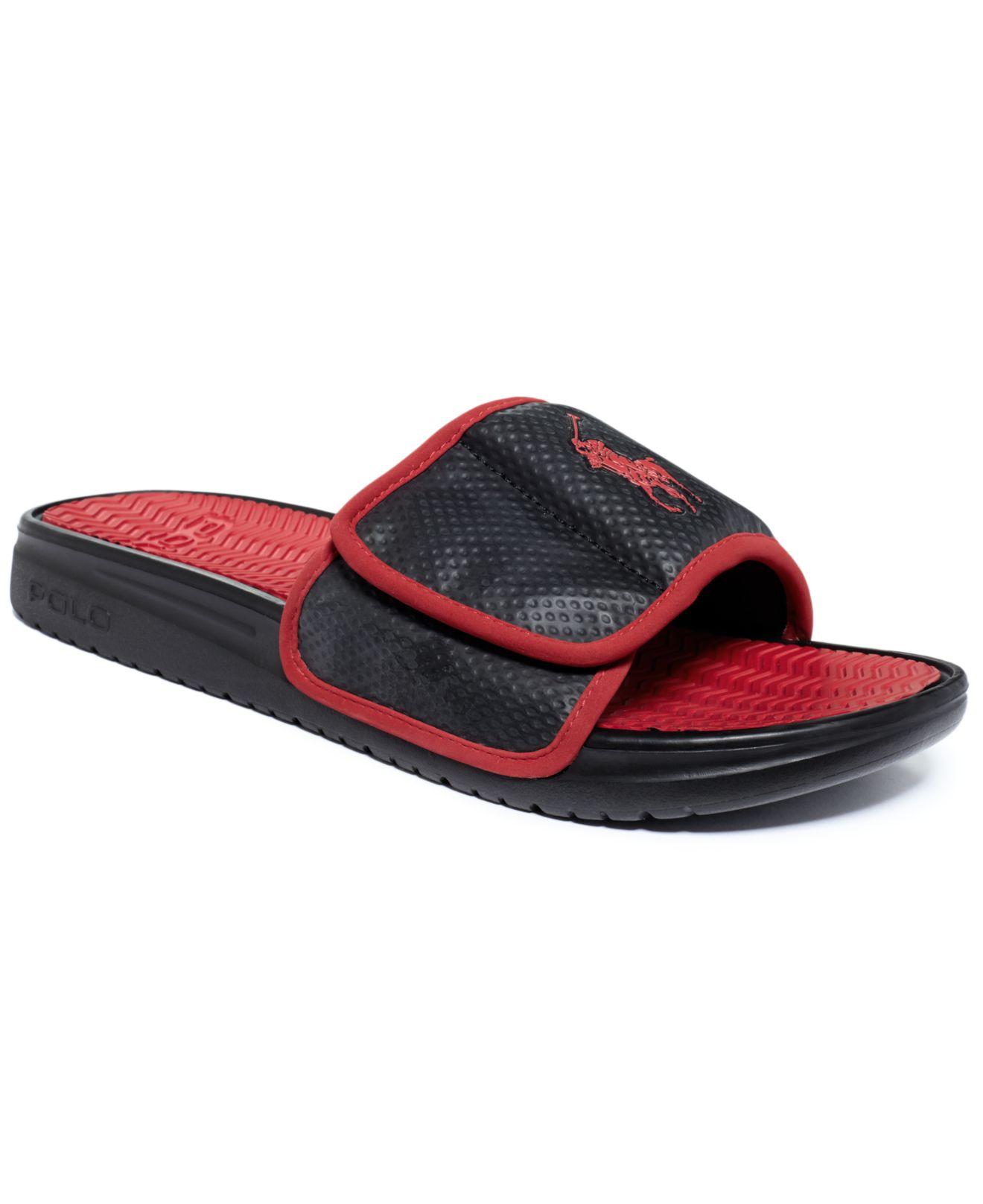 666ed86281df Lyst polo ralph lauren romsey sandals in black for men jpg 1320x1616 Red polo  slides