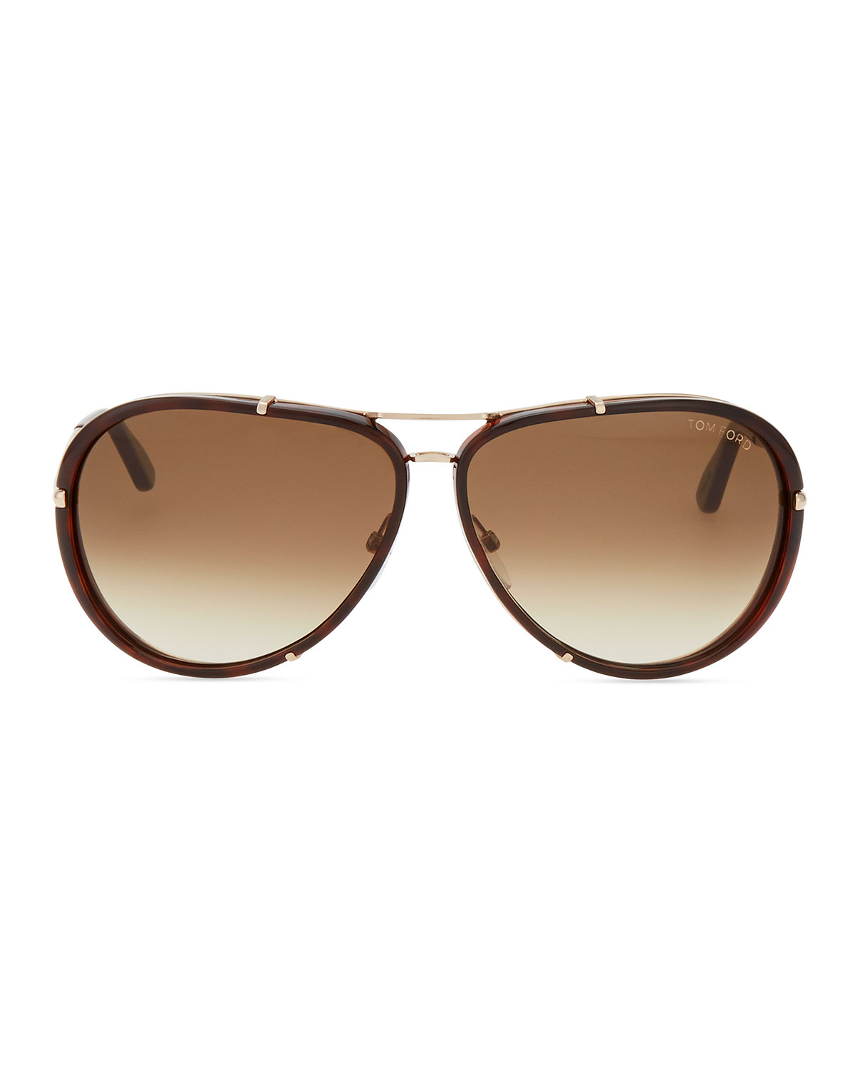 tom ford cyrille aviator sunglasses in brown for men havana rose gold. Cars Review. Best American Auto & Cars Review