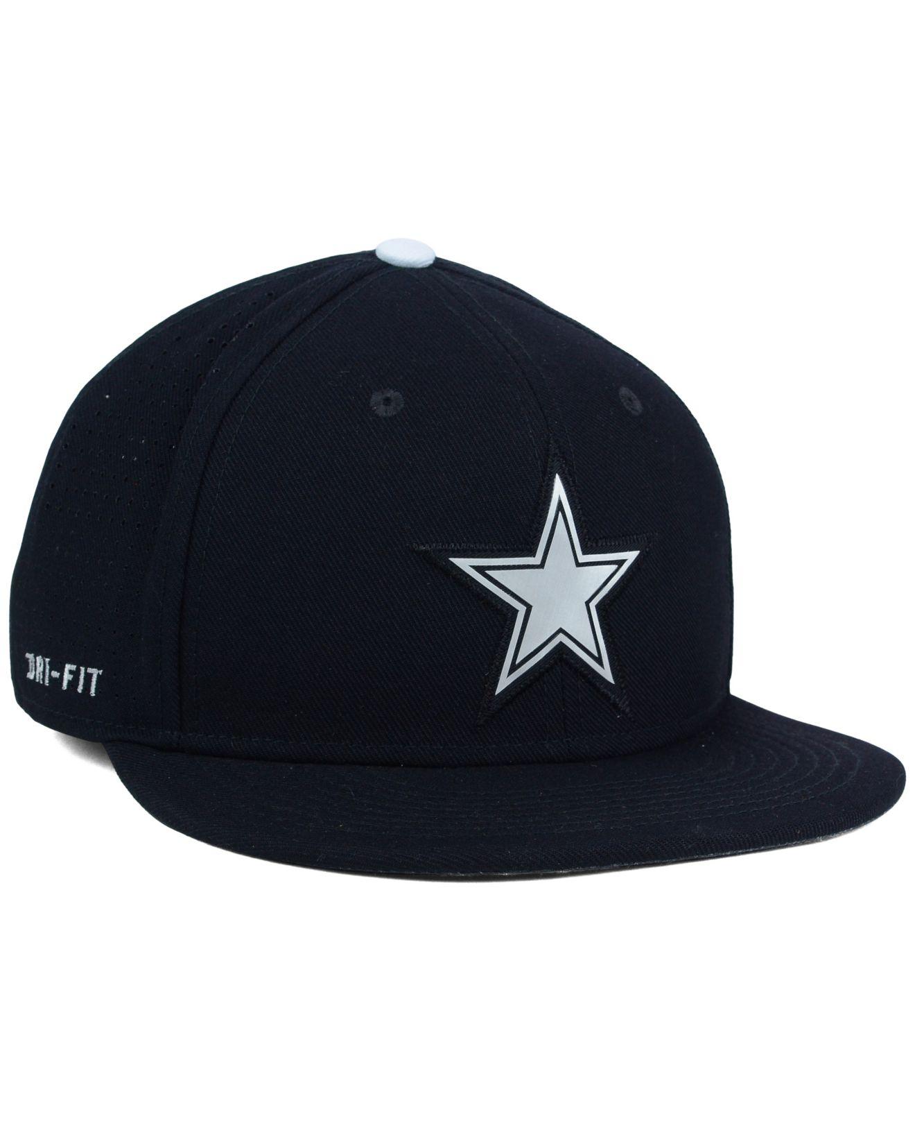 9c9a03fddbc Lyst - Nike Dallas Cowboys True Vapor Fitted Cap in Black for Men