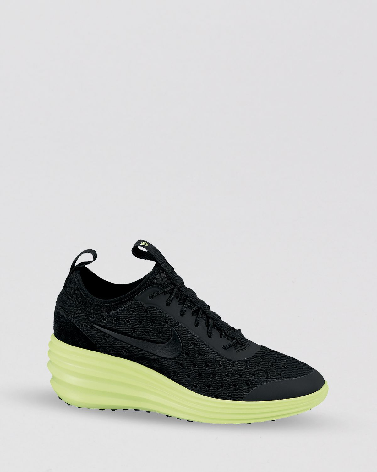c02fa24d3ad3 Lyst - Nike Lace Up Sneakers Womens Lunar Elite Sky Hi in Black