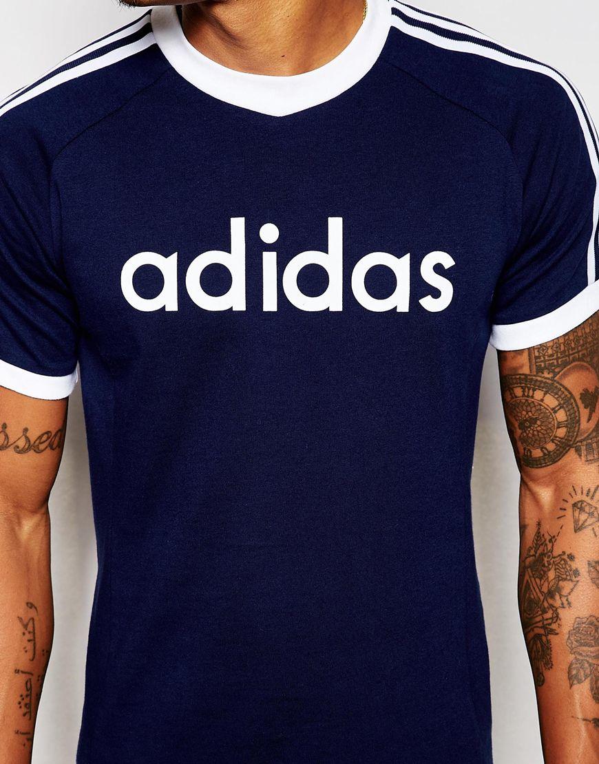 46332a3053fb0 adidas Originals Beckenbauer T-shirt Ab7762 in Blue for Men - Lyst
