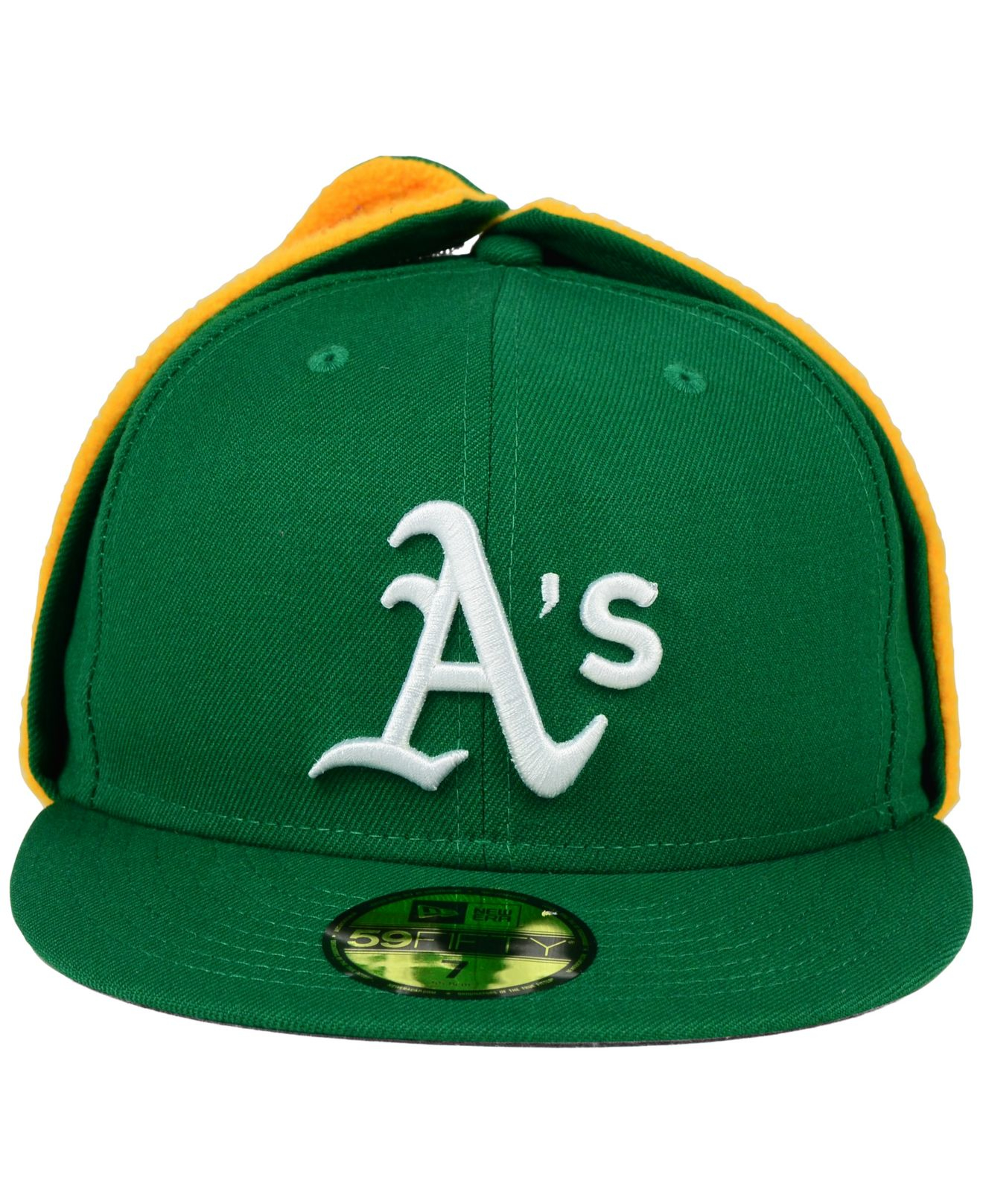 Lyst - KTZ Oakland Athletics Dog Ear 59fifty Cap in Green for Men 1ba2f10f0