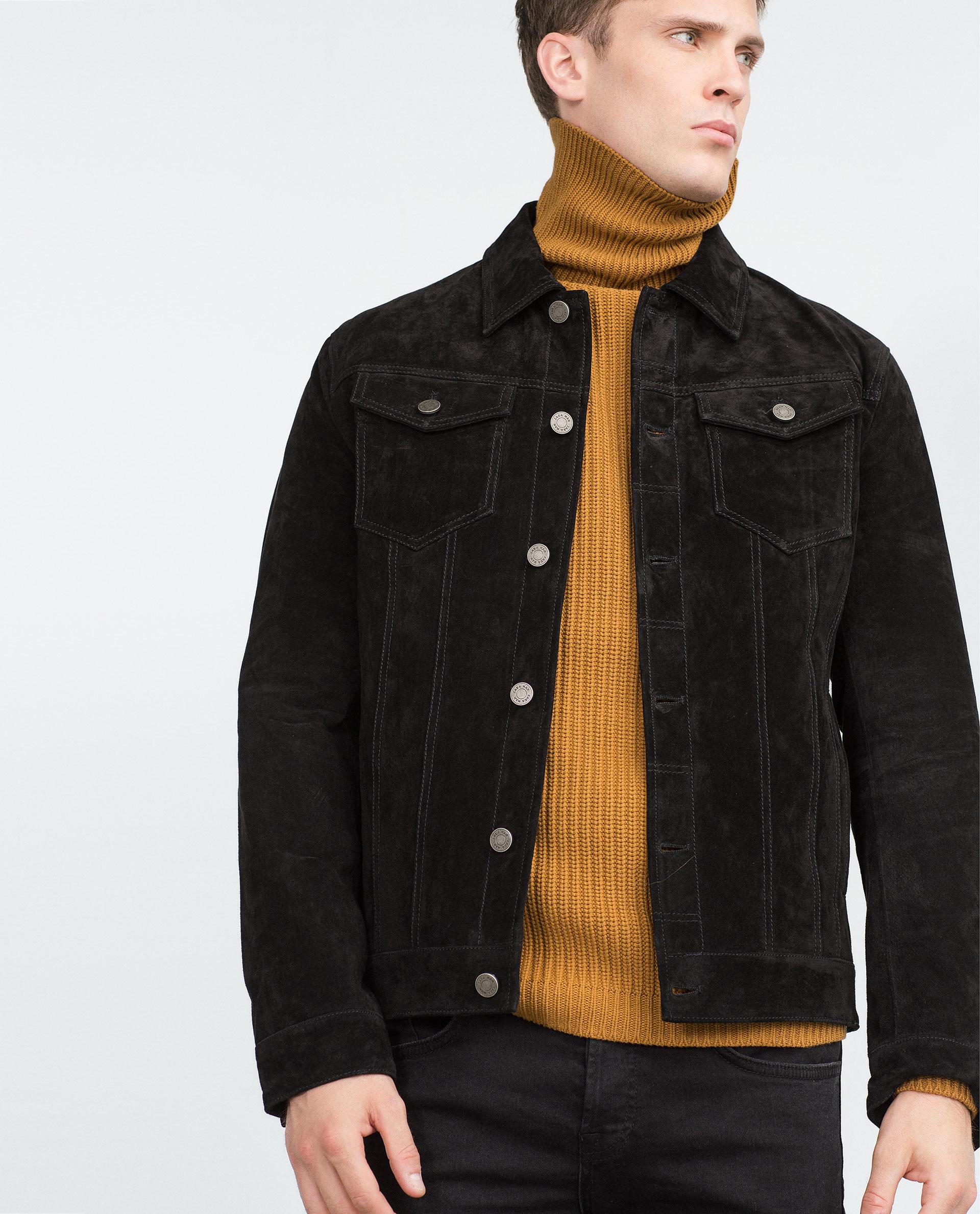 Suede jacket black – Modern fashion jacket photo blog