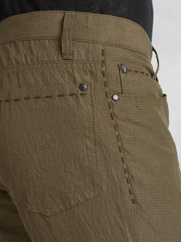 john varvatos cotton linen woodward jean in brown for men