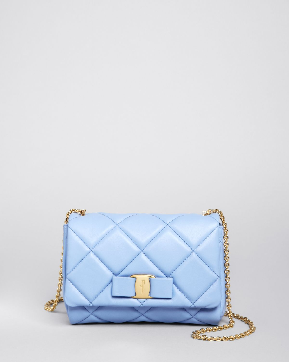 Lyst - Ferragamo Mini Bag - Soft Quilted Miss Vara Bow in Blue ffbf7b7932402