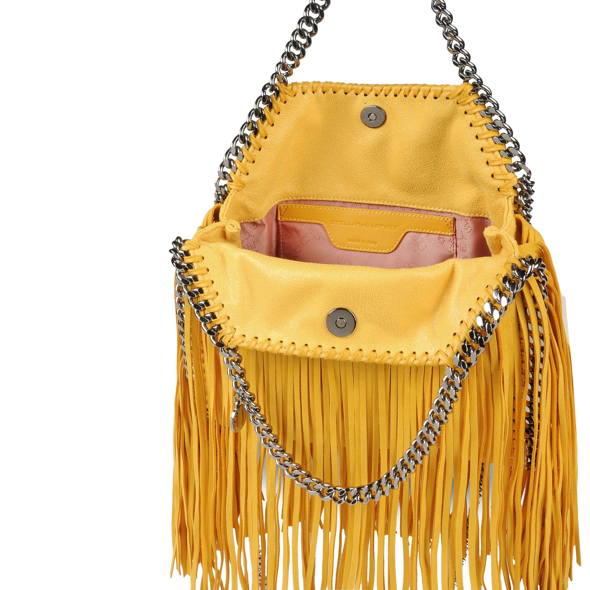 Lyst - Stella McCartney Falabella Shaggy Deer Fringed Mini Tote in ... a3f63840b6