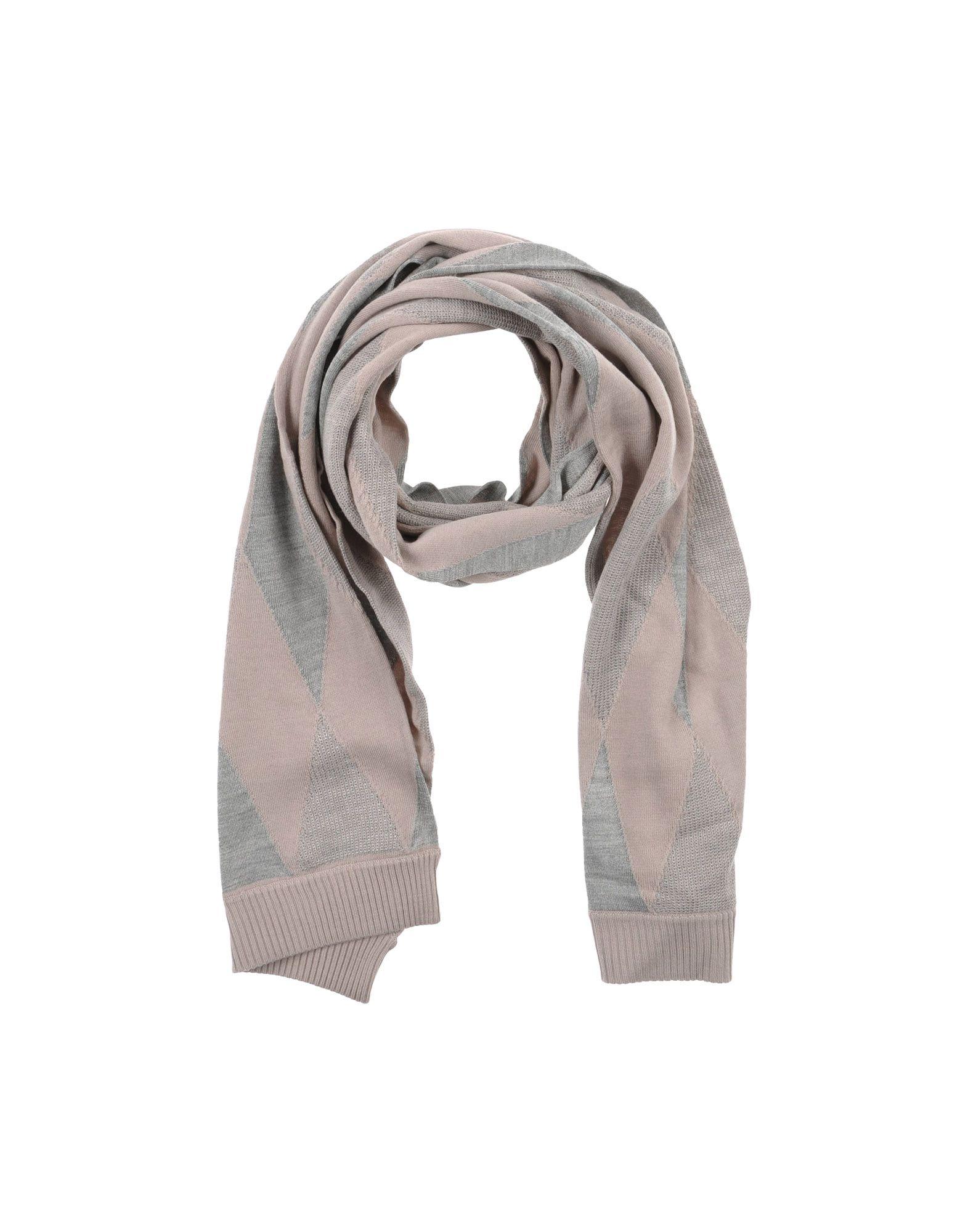 pringle of scotland oblong scarf in gray grey lyst