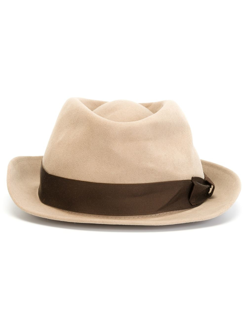 d6392dc3df1 Kiton Grosgrain Band Hat in Natural for Men - Lyst