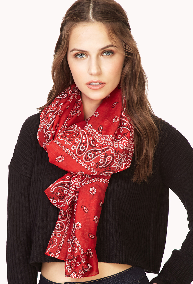 Lyst Forever 21 Forever Cool Bandana Scarf In Red