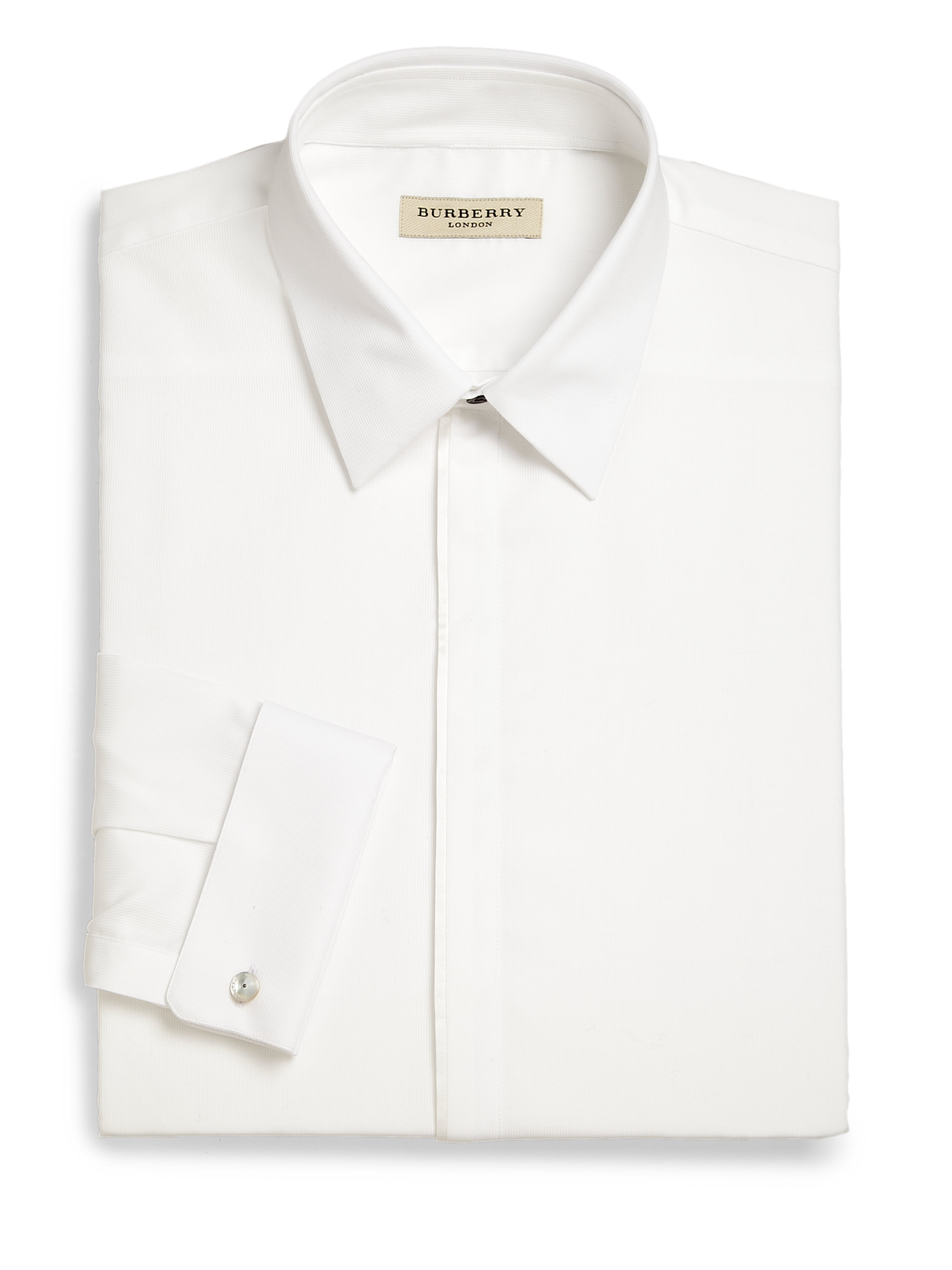 Burberry Slim Fit Tuxedo Shirt In White For Men Lyst