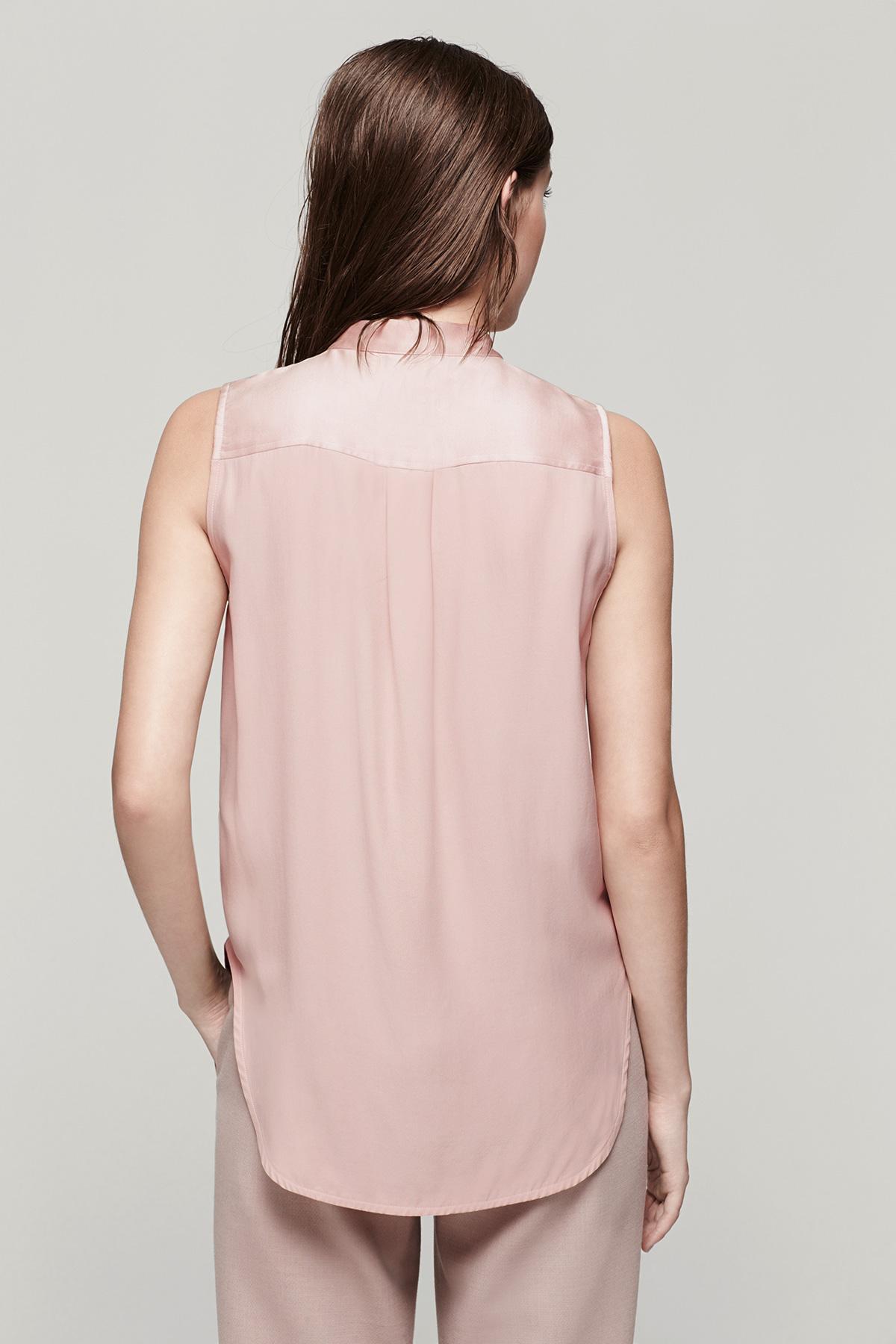 Rag bone kent shirt in pink lyst for Rag bone shirt
