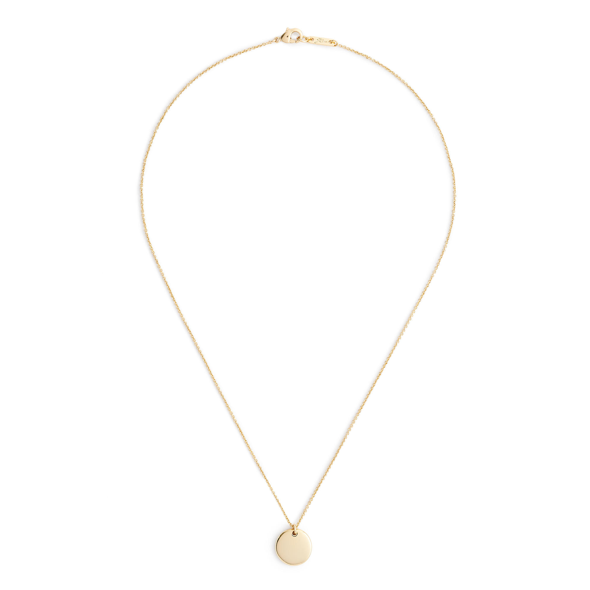 j crew 14k gold circle charm necklace with 20 1 2 quot chain