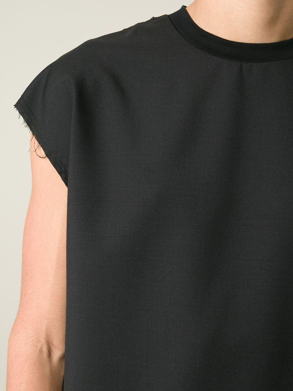 Lanvin Sleeveless T-Shirt in Black for Men   Lyst
