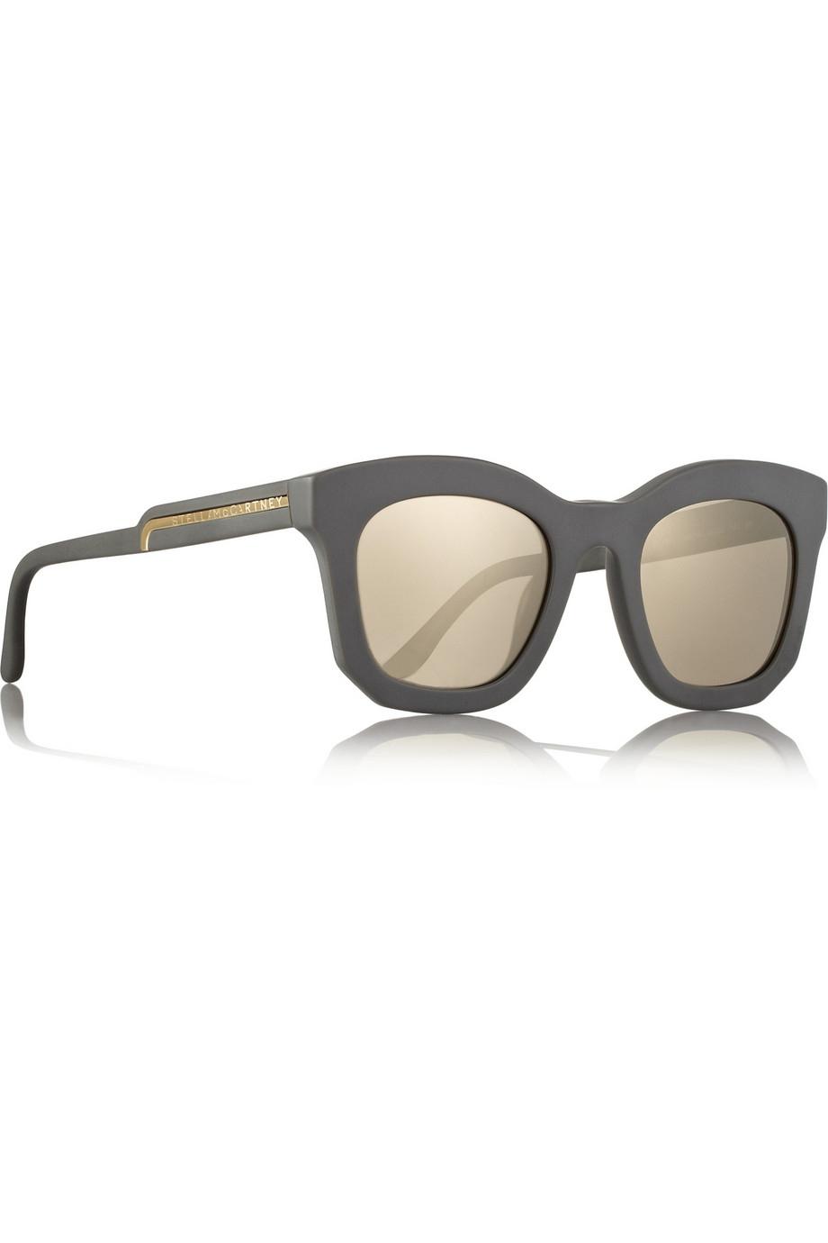 9f6537ef7dca Lyst - Stella McCartney D-Frame Acetate Mirrored Sunglasses in Gray