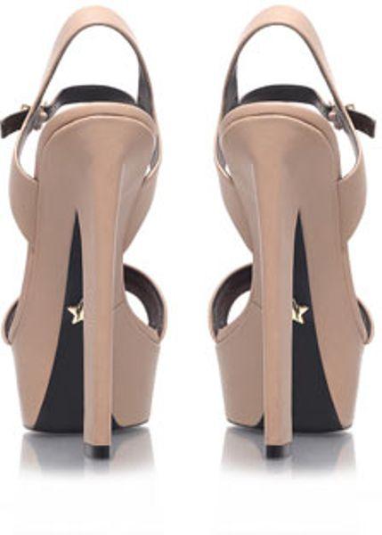 Topshop Nude High Heel Sandals By Kg By Kurt Geiger in