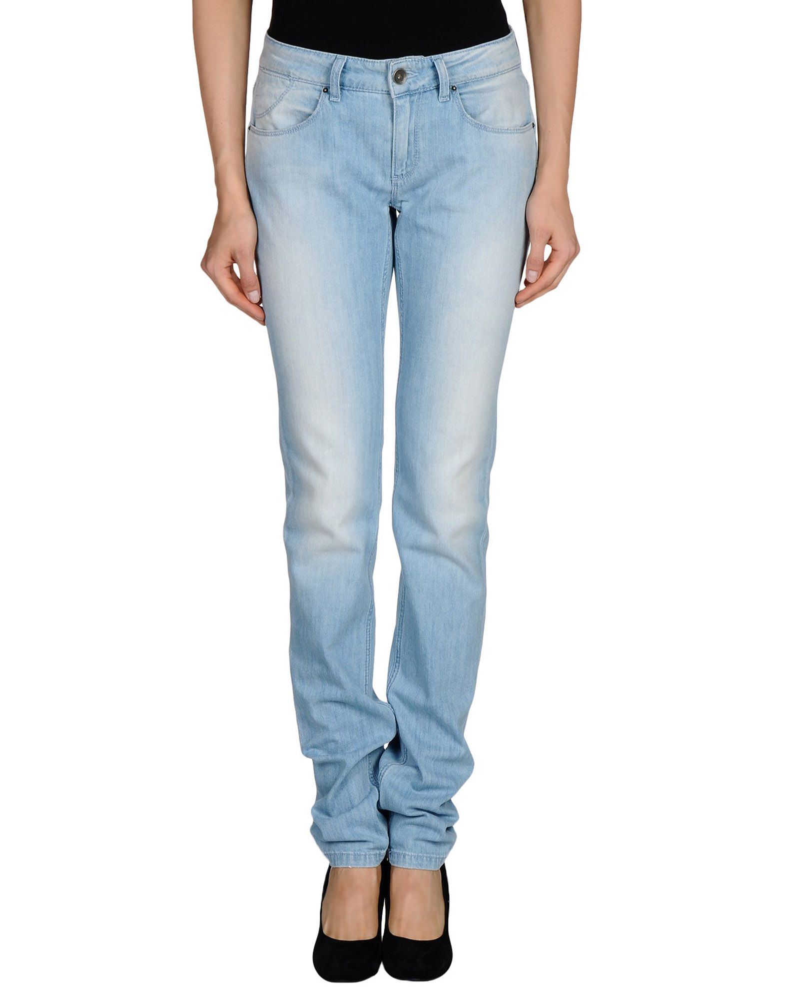 tommy hilfiger relaxed low rise skinny jeans in blue lyst. Black Bedroom Furniture Sets. Home Design Ideas