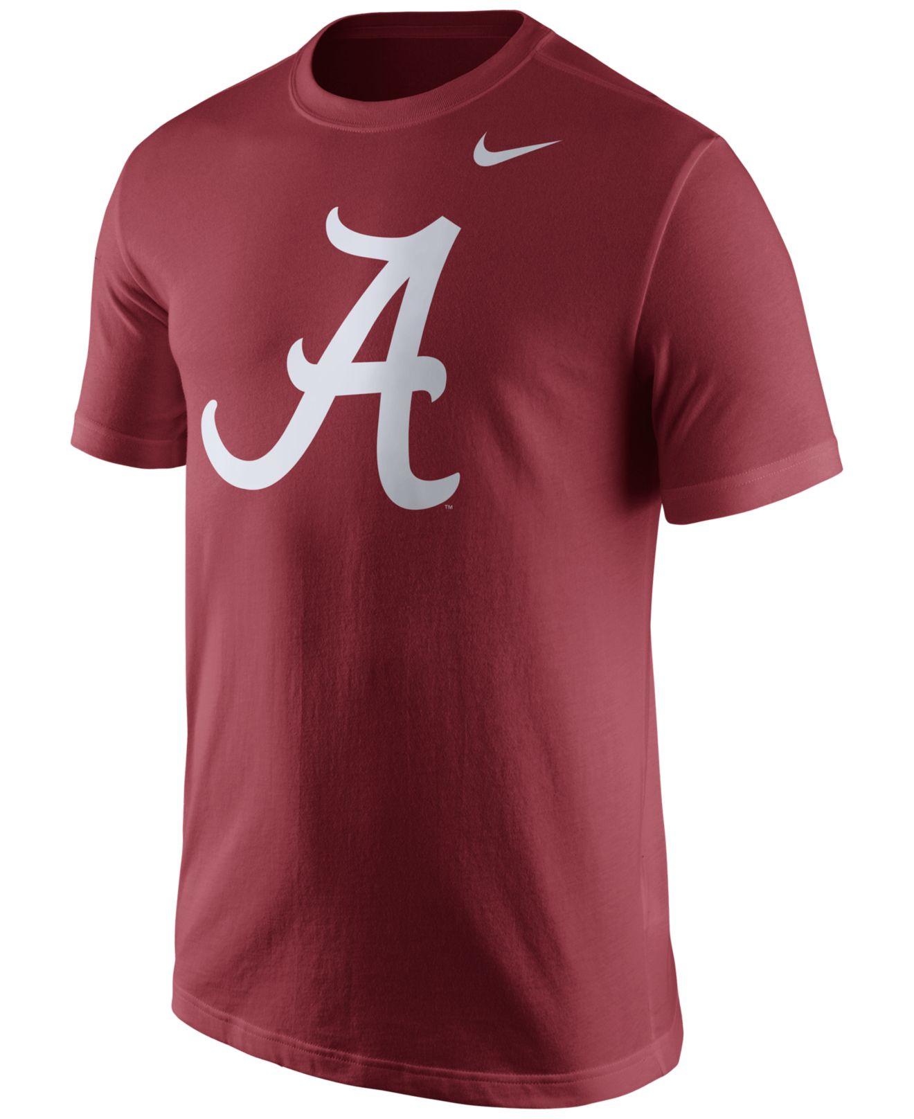 Nike men 39 s alabama crimson tide logo t shirt in red for for Alabama crimson tide tee shirts